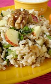 dry rice and apples