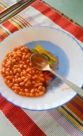 home prepared baked beans